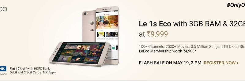 LeEco Le 1s flipkart flash sale