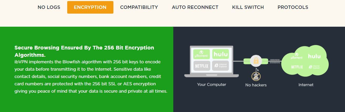 ib vpn review feature encryption