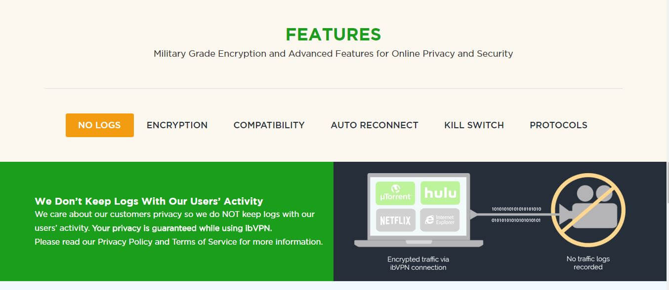 ib vpn review features