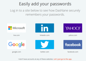 dashlane ready accounts