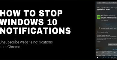How To Disable Windows 10 Notifications